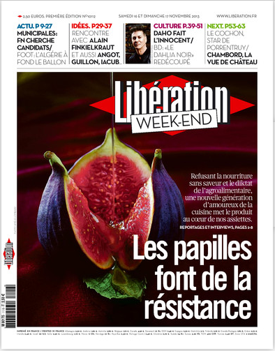 Libération cover - 16/17th Nov 2013 weekend edition